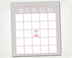 Rain Shower Baby Girl Shower Bingo -  PRINTABLE Bingo Card - DIY Digital File - Baby Shower Bingo. $5.00, via Etsy.