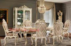 Meja makan mewah 6 kursi merupakan produk mebel ukir jepara yang banyak diminati. Meja makan ini bentuknya sangat mewah dan unik dengan ukiran yang ada dimeja dan kursinya. Meja makan ini akan menambah keindahan ruangan makan mewah rumah anda. Lengkapi ruangan makan anda dengan meja makan mewah 6 kursi ini dijamin berkualitas dan tahan lama.