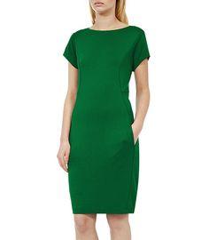 Martina JERSEY SHIFT DRESS EMERALD