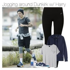 """Jogging around Dunkirk w/ Harry"" by vane-abreu ❤ liked on Polyvore featuring NIKE, Woolrich and AR SRPLS"