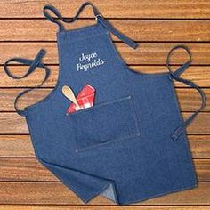 Personalized Gifts - Denim Apron du Jour  $28.95 #summerpartypinoff
