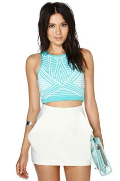 Love Triangle Tank & Envelope Mini Skirt