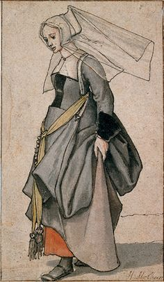 Holbein sketch    a gorgeous one of a Tudor woman.  Love the flat simple style.  Looks very modern compared to other Holbein work.