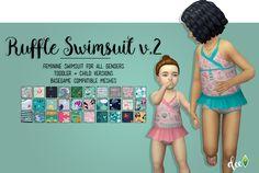 Ruffle Swimsuit v.2 - Deetron Sims