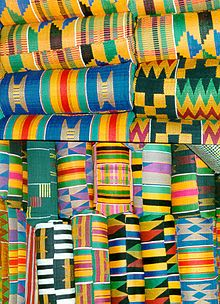 kente cloth from Ghana, this cloth is given to important, special people.