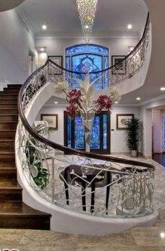 awesome Luxury Mansion Foyers⭐️ ~Grand Mansions, Castles, Dream Homes & Luxury H... by http://www.best99homedecorpictures.us/dream-homes/luxury-mansion-foyers%e2%ad%90%ef%b8%8f-grand-mansions-castles-dream-homes-luxury-h/