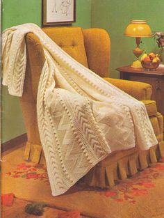 301 PDF Vintage Aran Afghan Knitting Pattern от LammDigital