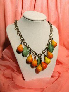 fruit pear necklace