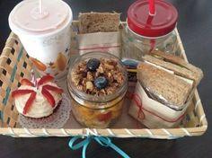 Breakfast Basket, Breakfast Items, Breakfast In Bed, Valentines Breakfast, Easy School Lunches, Food Packaging Design, Dream Cake, Bakery Cafe, Candy Gifts