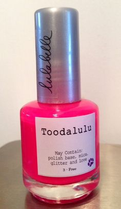 This beautiful, bright pink stunner is one of the newest colors by Lulabelle and part of the new Neon Collection! Toodalulu is a bright neon color that is perfect for the summer and looks greater under tons of fun glittery toppers! Without top coat, Toodalulu is a beautiful matte which can be transformed into a nice glazed neon pink with just a touch of top coat!