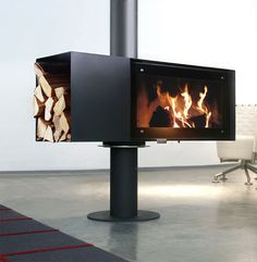 Furniture:Cool And Minimalist Design For Modern Stylish Fireplace And Storage Firewood In One Place Inspirational Designs of Modern Indoor F. Fireplace Design, Gas Fireplace, Fireplace Ideas, Tiled Fireplace, Christmas Fireplace, Electric Fireplace, Freestanding Fireplace, Log Burner, Foyers