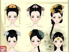 Origami, Chinese Drawings, Japanese Hairstyle, China Art, Creative Pictures, Period Costumes, Ancient China, Character Costumes, How To Draw Hair