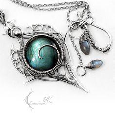 LITRHRIL - silver and labradorite by LUNARIEEN.deviantart.com on @deviantART