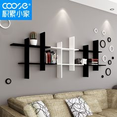The newest catalog of corner wall shelves designs for modern home interior wall decoration latest trends in wooden wall shelf design as home interior decor trends in Indian houses Wooden Wall Shelves, Wall Shelves Design, Floating Shelves, Ikea Wall Shelves, Unique Wall Shelves, Home Decor Furniture, Diy Home Decor, Furniture Design, Living Room Designs