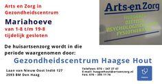 1 t/m 19 Aug - Arts en Zorg Mariahoeve tijdelijk gesloten - http://www.oktip.nl/1-tm-19-aug-arts-en-zorg-mariahoeve-tijdelijk-gesloten/