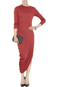 Bridesmaid draped jersey dress.Long sleeves by CTbyCoutureTime, $125.00