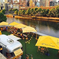 Verve Clicquot Airstream Pop Up Bar - Yarra River, Melbourne