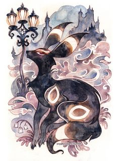 Umbreon is one of my favorites but I mostly like all the eevee evolutions Pokemon Go, Pokemon Fusion, Pikachu, Cool Pokemon, Creepy Pokemon, Umbreon And Espeon, Pokemon Eeveelutions, Eevee Evolutions, Pokemon Especial