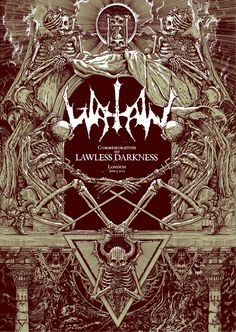 Screenprinted in blood!! - Watain Lawless Darkness poster