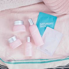 """""""Saturday morning spa moments with @saturday_skin, which keeps skin hydrated, radiant, and weekend-…"""""""