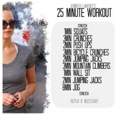 25 Minute Workout #health #fit