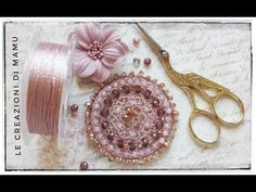 ROSONE AD UNCINETTO CON FILATO FILI E FORME E CRISTALLI [TUTORIAL CROCHET] - YouTube Jewelry Making Tutorials, Beading Tutorials, Beaded Earrings, Crochet Earrings, Crochet Videos, Brick Stitch, Wire Art, Bead Crochet, Crochet Designs