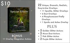 JD Special Effects: Glitter Dust & by JessicaDrossinPhoto on Etsy Glitter Dust, Golden Glitter, Pink Glitter, Forest Elf, Moon Dust, Photoshop Actions, Lightroom, Special Effects, Photography Tips