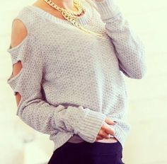 Get this sweater on @Wheretoget or see more #sweater #oversized_sweater #grey #classy