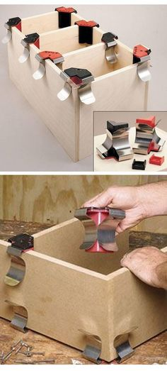 Jet Jointer Clamp: a small, easy-to-use clamp that's perfect for temporarily butting together a pair of boards and holding them in place at a right angle until clamps or screws can be added.