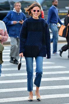 Alexa Chung on the streets