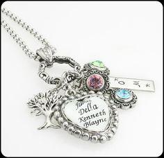 Heart Jewelry Personalized Mom By Blackberrydesigns 78 00 Mother