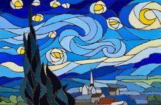 The Starry Night - Mixed Media Artwork - Brian Sloan Artist Wood Burning Tool, Mixed Media Artwork, Acrylic Canvas, Canvas Board, Vincent Van Gogh, Pyrography, Original Paintings, Night, Gallery