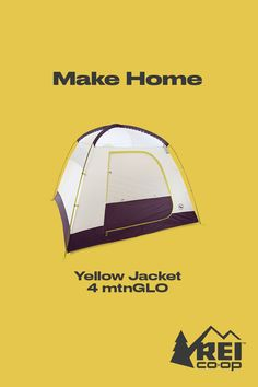 Bring the stars into your tent with the Big Agnes Yellow Jacket 4 mtnGLO tent, featuring a spacious design and integrated LEDs that glimmer with the click of a button. Shop now. #LetsCamp