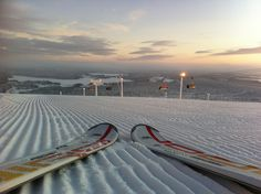 Perfectly groomed piste in Ruka, Finland http://crys.tl/1ag6zUo