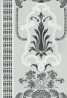 Bergius Duck Egg (P554/07) - Designers Guild Wallpapers - A cool and classically elegant design influenced by late 18th century painted wall panels. Showing in Duck Egg. Please request a sample for true colour match. Other colour ways available. Paste-the-wall product.
