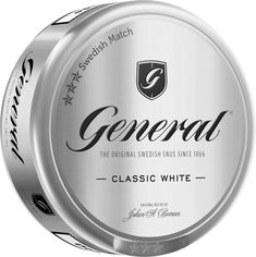 Snus General Classic Portion Can White Sweden Chew Cut cans as Classic White, White White, Original Recipe, Sweden, Canning, The Originals, Products, Home Canning, Gadget