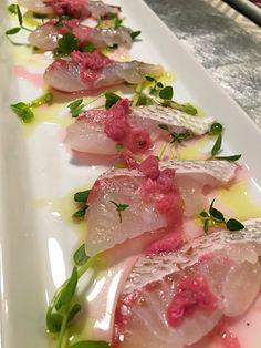 ぞうさんのお台所's dish photo 鯛の桜ヴィネグレット Red snapper with Sakura vinegrette http://snapdish.co #SnapDish #桃の日(3月3日) #ひな祭り #お花見 #魚料理
