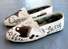 Custom Latte TOMS. If I ever worked at a coffee shop, these would be a must.
