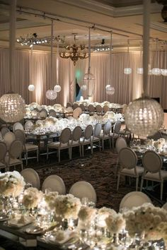 Featured Photographer: Samuel Lippke Studios; ballroom wedding reception idea