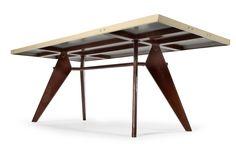 Tropique dining table, model 503, Manufactured by Les Ateliers Jean Prouvé, France, 1951