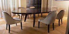 DOM EDIZIONI Ebony Makassar table, Harry dinner table #domedizioni #luxuryliving #luxuryfurniture #harry #dinnertable #ebony