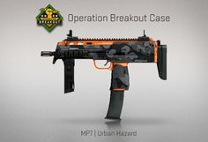 Counter-Strike Global Offensive: Operation Breakout Case: MP7 Urban Hazard