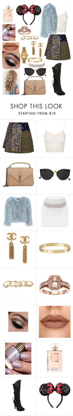 """""""Disney Paris 🎠🎢🎡🎠"""" by jazmin-576 on Polyvore featuring moda, SUNO New York, Topshop, Yves Saint Laurent, RetroSuperFuture, Jocelyn, Forever 21, Cartier, Rolex y GUESS"""