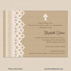 Spanish Baptism Invitation Printable  por ThreeLittleParties, $13.00