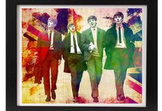 THE BEATLES (print/poster) This musical art creation is a high-quality reproduction of my original illustration/watercolor mixed media artwork. I sketched and designed this piece to have a true vintage appearance. Message me for canvas options. *Frame and matte are not included  PRINTING/PACKAGING/MAILING: Professionally printed on high-quality, lustre paper and shipped in secure packaging (superior quality clear sleeve with cardboard backing) to protect quality and safety...