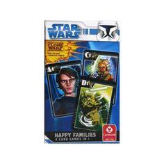 Star Wars - Clone Wars 4 játék 1 pakliban - 3 éves kortól - Egyszerbolt Társasjáték Webáruház Star Wars Clone Wars, Happy Family, Baseball Cards, Stars, Games, Baby Deer, Sterne, Gaming, Star