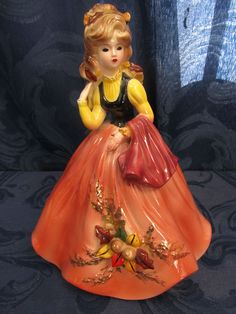 "Josef Originals Autumn Figurine From Four Seasons Collection 9"""
