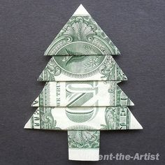 Origami money christmas gifts
