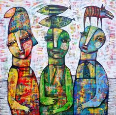 Red Green and Blue by Dan Casado outsider folk art