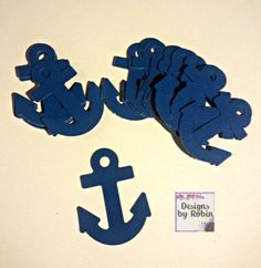 Adorable anchor naudical BLUE anchors.   Anchors die cuts are approx 2 inches in length.   other colors are available - just message or check my